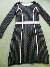 Fenn Wright Manson Black Pink Knit Jumper Dress Size M 12 14