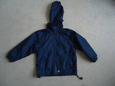 BOYS  BLUE MAX NAVY BLUE JACKET AGE 3/4 YEARS WITH FOLD AWAY HOOD  FLEECE LINED