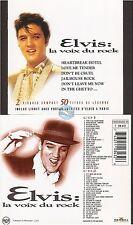 ELVIS PRESLEY la voix du rock CD ALBUM 2cd 50t bmg france livret photos à paris