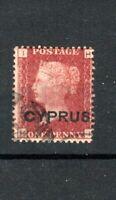 Cyprus 1880 1d red GB opt plate 215 HI FU