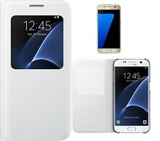 Samsung Galaxy S7 Protective SView Case Cover - White
