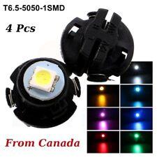 4 Pcs T6.5 Light NEO Dash 7 Color Twist Socket HVAC Cluster Bulb 1 5050 SMD LED