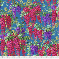 Wisteria Teal Philip Jacobs/ Kaffe Fassett cotton Quilting Fabric BTY