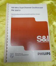 PHILIPS DUAL CHANNEL OSCILLOSCOPE PM3267U OPERATING MANUAL