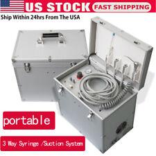 Portable Dental Turbine Treatment Unit Air Compressor Suction Syringe 4h Machine