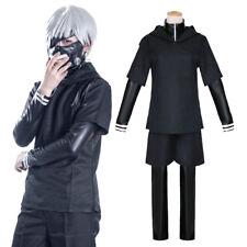 Tokyo Ghoul Kaneki Ken Fight Outfit Hoodie Sweater Leather Inner Cosplay Costume