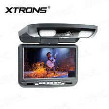 Car Roof Monitor Flip Down DVD Player Overhead Video AUX/AV/FM/IR/TV/GAME GREY
