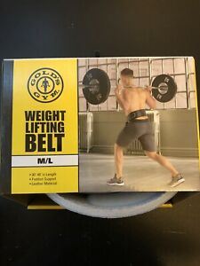 Gold's Gym Black Leather Weight Lifting Belt Size M/L NEW