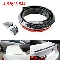 4.9ft Universal Carbon Fiber Car Rear Roof Trunk Spoiler Wing Lip Sticker Body