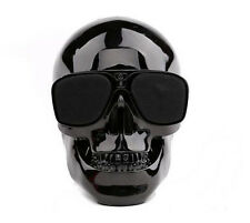 Cool Fashion Mini Skull Shape Portable Bluetooth Audio Wireless Speaker Black