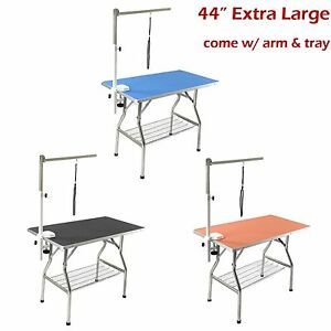 "44"" Large Stainless Steel Heavy Duty Pet Dog Foldable Grooming Table -Flying Pig"