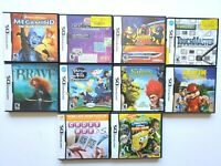 Nintendo DS Lot 10 Games Megamind Puzzler Shrek Crosswords Spongebob Brave Alvin