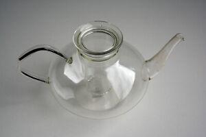 Teekanne 1 Liter + Deckel + Teesieb, Schott ,Jenaer Glas, Heinrich Löffelhardt