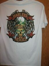 Harley's For Heroes white M t shirt