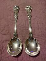 English King by Tiffany & Co Sterling Silver Gumbo Spoons Set of 2 - 8 Inches