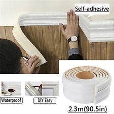 Waterproof 3D Pattern Skirting Border PVC Foam Home Wall Decor Removable Sticker
