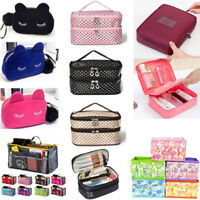 Travel Cosmetic Bag Makeup Case Multifunction Toiletry Zipper Wash Organizer