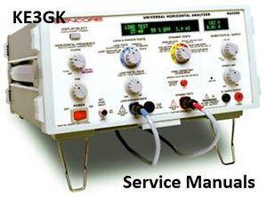 Sencore Service and Instruction Manuals * CDROM * PDF * KE3GK