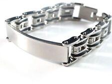 New Black & Silver 2-Tone Finish Men's Stainless Steel 8.25 Inch Link Bracelet