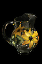 Beautiful Hand Painted Glass- Pitchers and Decanters Collection