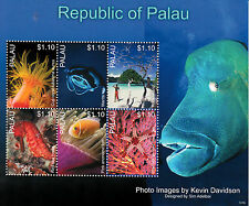 Palau 2013 MNH Marine Life II 6v M/S Fish Manta Ray Sea Horse Anemone Coral Fan