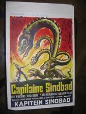 CAPTAIN CAPITAINE SINBAD 1963 VINTAGE BELGIAN POSTER AFFICHE ANCIENNE