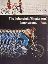 1971 Sears Sports Center Lightweight SPYDER 500 Bicycle~ Boys~Girls Bike AD