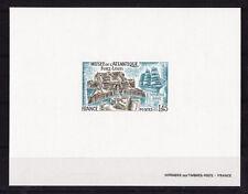 épreuve de luxe timbre France  musée de l'atlantique  1976  num: 1913