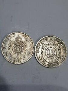 Lot de 2 1 Franc Napoléon