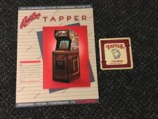 1984 BALLY/MIDWAY ROOTBEER TAPPER FLYER NOS W/BONUS PROMO COASTER