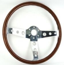Genuine Peretti 390mm wood rim steering wheel. Beautiful!  Alfa Romeo Fiat.   8E