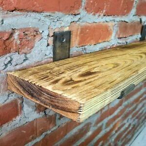 Rustic Shelf Scaffold Board Industrial Solid Wood Brackets Vintage SIZES Shelves
