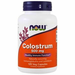 Now Foods Colostrum, 500 mg, 120 Veggie Capsules, Immune Supprot.