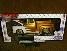 M2 RAW GOLD SUPER CHASE GROUND POUNDERS 56 FORD F-100 1/24  ULTRA RARE 1 OF 300