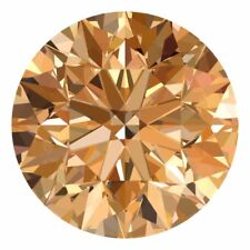 2.6 MM CERTIFIED Round Fancy Champagne Color Loose Natural Diamond Wholesale Lot