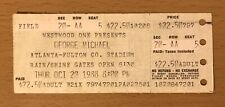 1988 GEORGE MICHAEL FAITH TOUR ATLANTA CONCERT TICKET STUB FATHER FIGURE WHAM A5