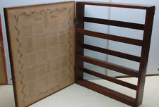 Vintage Oak Wooden Herb and Spice storage Cabinet Rack Jars Containers USA