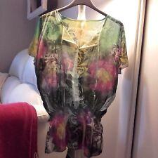 Casacca multicolore tg S tunica maglia camicia anni 70 '70 seventies H&M bershka