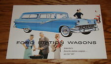 1956 Ford Station Wagon Sales Brochure 56 Country Squire Parklane Ranch