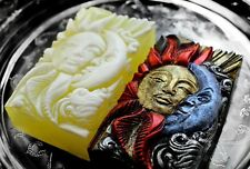 MOON SUN SILICONE MOLD SOAP RESIN PLASTER CLAY WAX MOLD 5,5OZ  MOULD SKY LOVERS