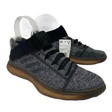 New Adidas Women's 8.5 PureBoost Trainer Gym Boost Shoes Black Gray Gum BB7218