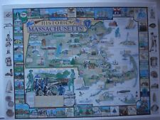 White Mountain Puzzles Historic Massachusetts - 1000 Piece Jigsaw Puzzle