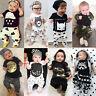 2tlg Baby Neugeborenen Langarm Kurzarm Tops T-Shirt Pullover Hosen Outfits Sets