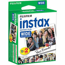 20 Prints Fuji Fujifilm Instax 200/210/300 Instant Color Print Wide Film NEW