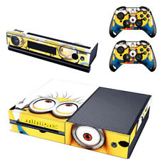Minions Xbox One Console SKIN + 2 x Controller Stickers Decal FacePlate - Pad
