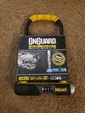 "OnGuard Bulldog 8010C Combo STD Combination Bike U-lock 9"" x 4.5"" with Bracket"