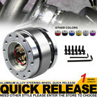 Silver Universal Car Steering Wheel Quick Release Hub Adapter Snap Off Boss Kits