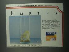 1991 Tetley Tea Ad - Emptea