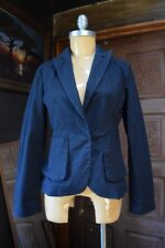 PERRY ELLIS WomensSingle HIdden Button Cotton Lycra Black Blazer Size 4