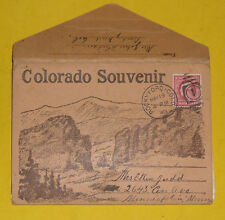 Souvenir Folder of Colorado 1909 Postcard Folder Great Pictures! Nice See!